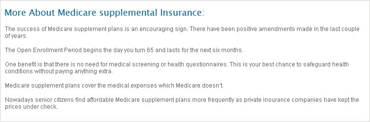California Medicare Supplemental Insurance