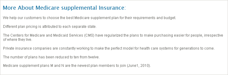 Medicare Supplemental Insurance Texas